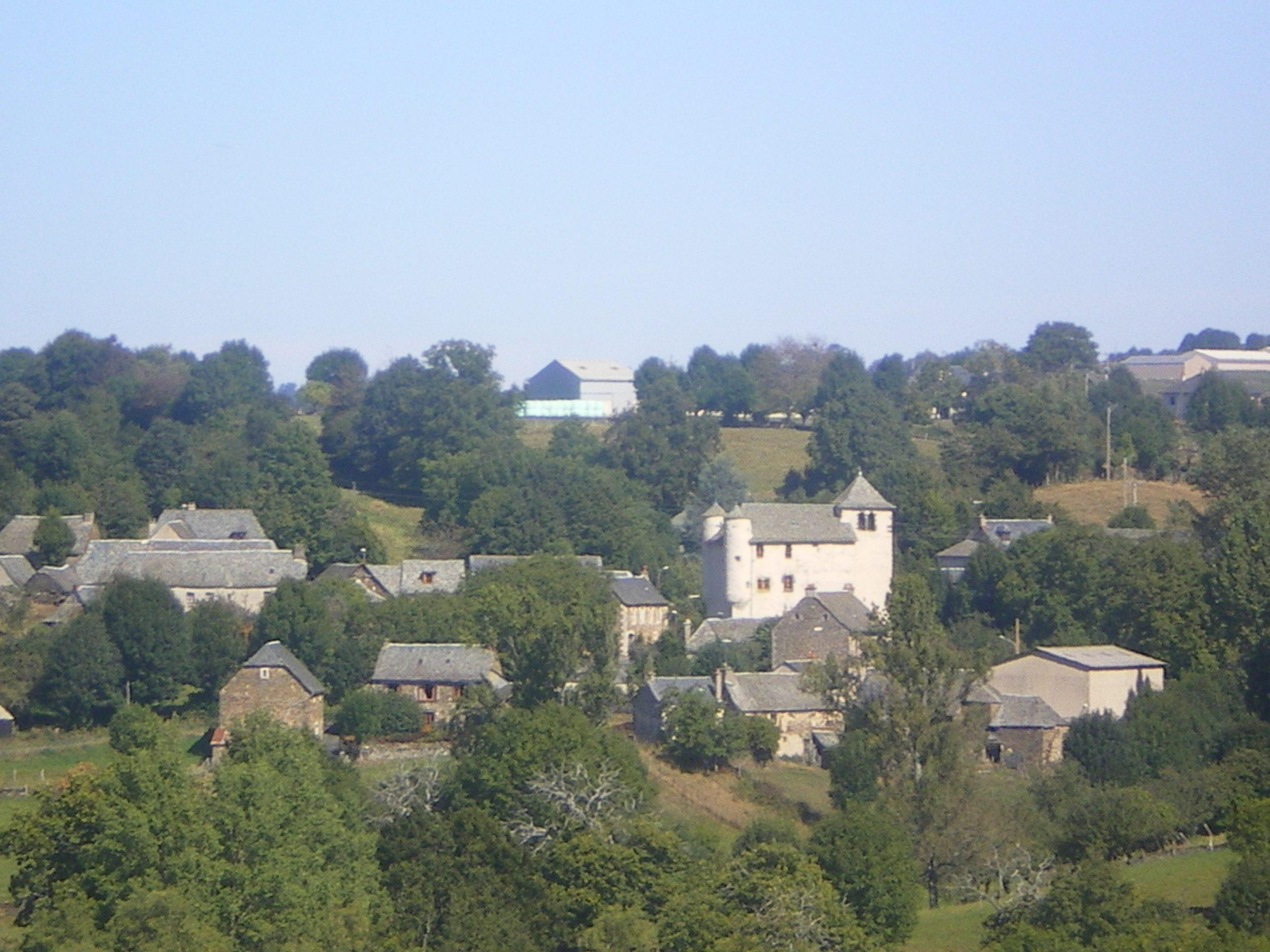 Vue du village d'Anglars